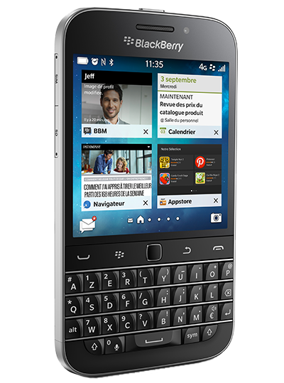 Smartphone BlackBerry - Classic Premium Internet illimité Ecran tactile 3.5Clavier AZERTY complet  Appareil photo 8MPx  Batterie 2500mAh Forfait SFR ou sans abonnement 339.00