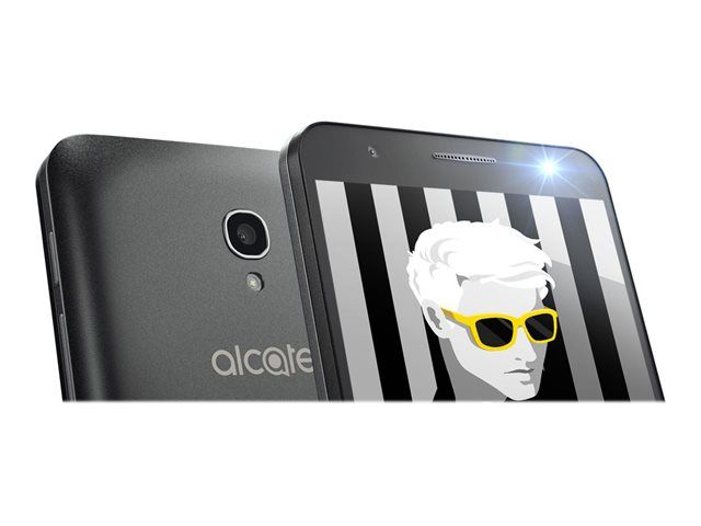 Téléphone mobile Alcatel Alcatel POP 4 5051D 8 Go Double SIM Noir ardoise